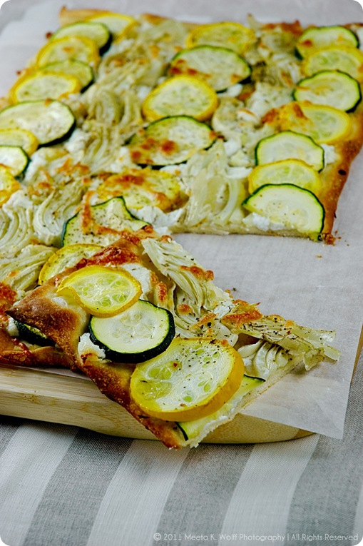 Zucchini Fennel Goat Cheese Tarte Flmabee (02) by Meeta K. Wolff