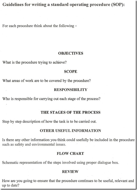 guideline SOP