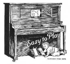 Look!  He's gonna learn how to play the piano.