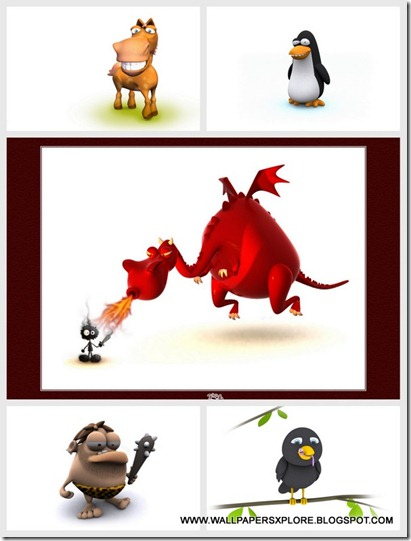 3D FUNNY ANIMALS WALLPAPERS {H33T} (www.wallpapersxplore.blogspot