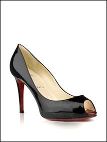christian louboutin Patent peep-toe heel (2)