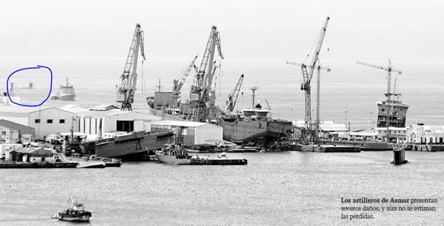 Atualizado (novas Fotos): Terremoto e tsunami causam danos em instalações navais chilenas