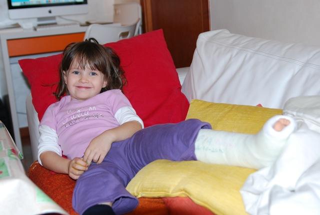 Sofia con gesso