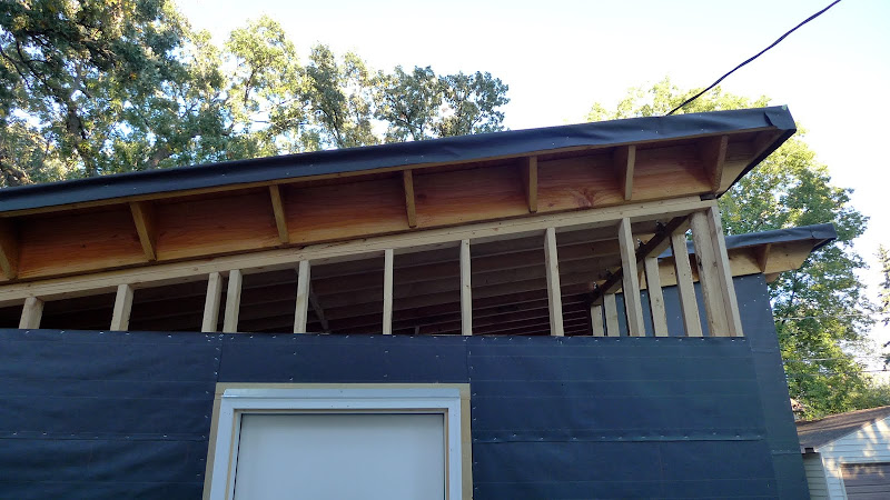 Garage build Modern Shed Roof Rain Screen Siding Page 3