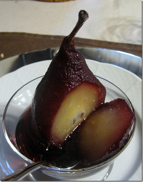 yummy poached pear