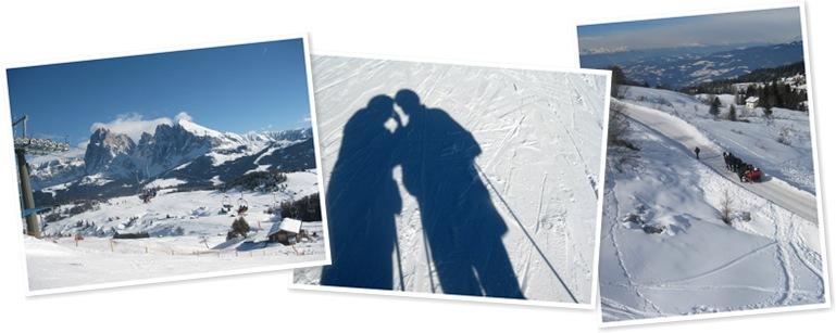 View skiing-Val Gardena