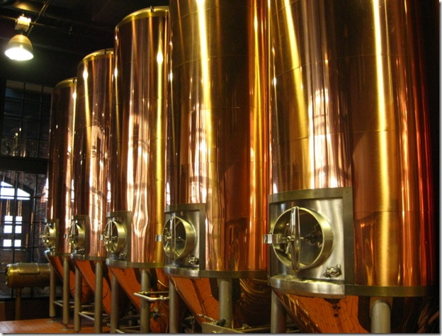copper vats at Keith's Brewery