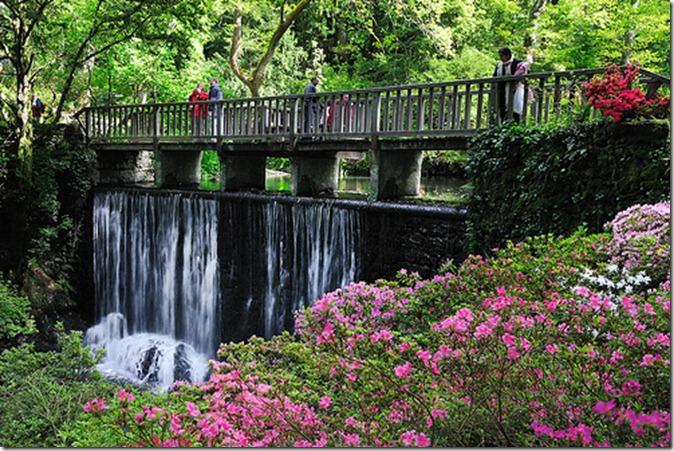 Bodnant garden, водопад