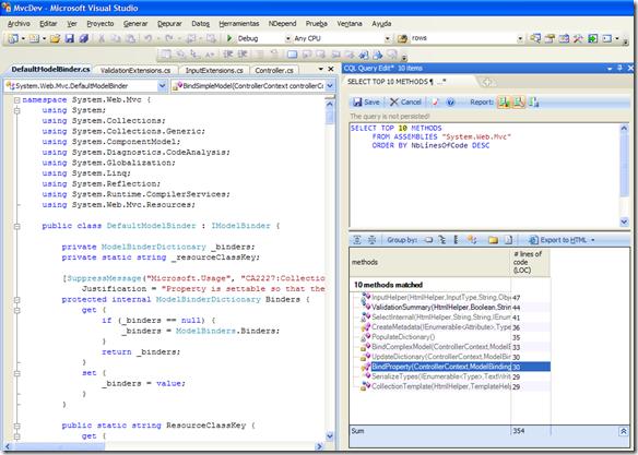 Los 10 métodos más extensos de ASP.NET MVC 2