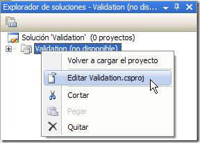 Editar archivo de proyecto