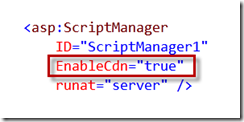 EnableCdn en ScriptManager
