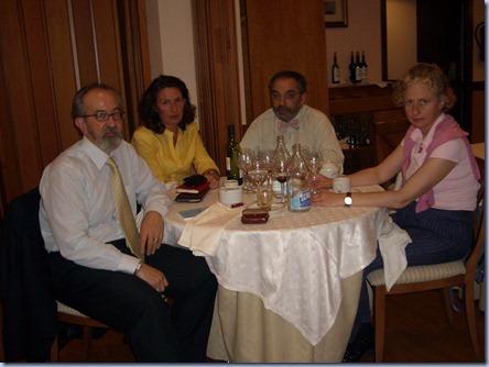 Cenas ciclo conferencias. Segunda. Nieves, María José, Víctor y Ricardo 2 (R)