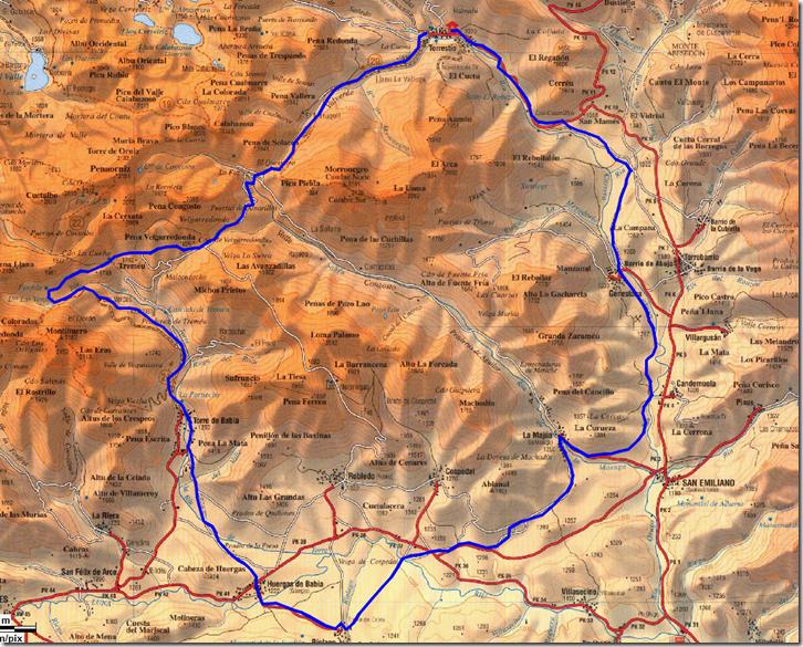 Mapa Torrestío