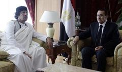 Mubarak with Gaddafi