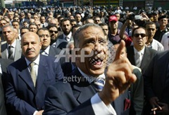 Judge Abdel in a protest