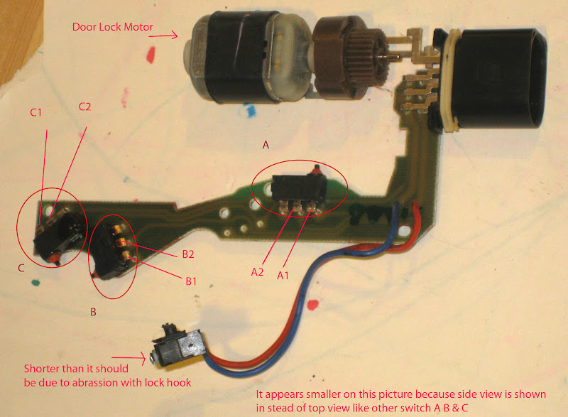 Diagnosis on the larger microswitch can be done without opening the case containing door lock motor and 3 small microswitches. Note: if opening the case ... & Info on how my driver Door Lock Module failed \u0026 a cheap Fix Pezcame.Com