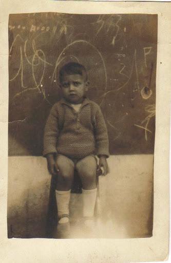 José Augusto Pimenta na escola do Monte Frio em 1931 ou 1932