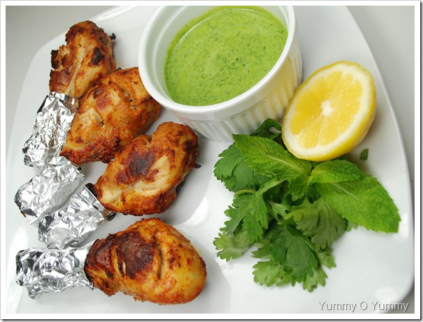 how to make green chutney for tandoori chicken