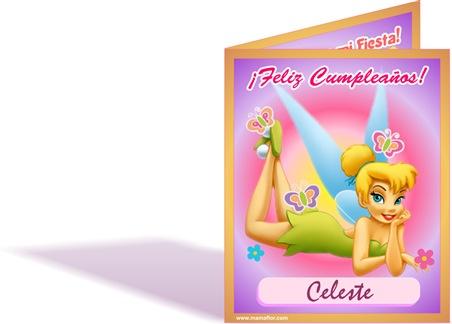 Tarjeta de Cumpleaños de la Campanita | Tinker Bell - Invitaciones ...