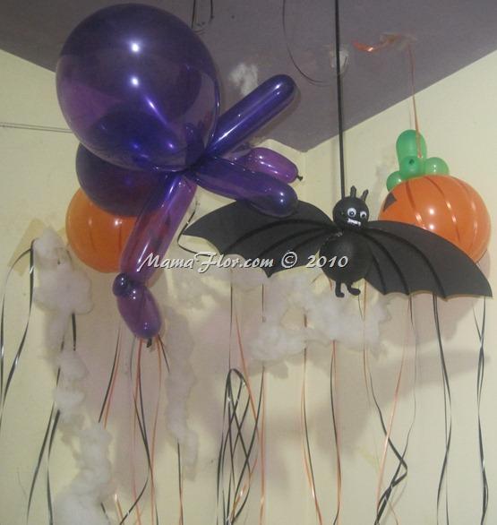 ¡Decoración para tu Fiesta de HALLOWEEN con Globos!