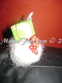 Como hacer adornos navidenos con fibra y bolas de tecnoport