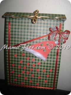 Como hacer un bolsito navidena