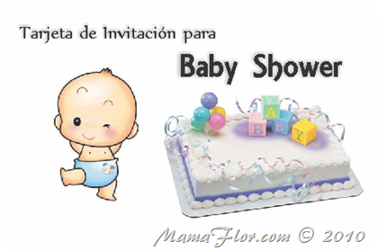 Tarjeta de Invitación de Baby Shower para Imprimir | Baby Toons