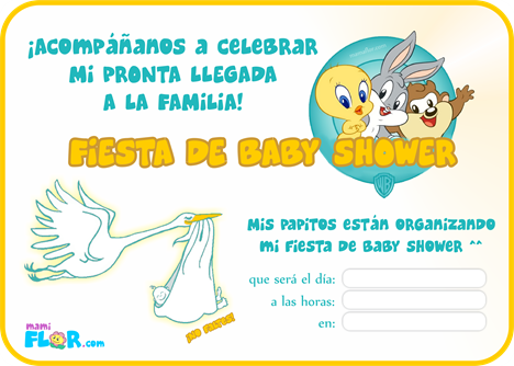 baby shower - bebe looney toons