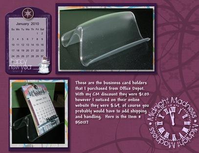2010 Calendar holder - Page 008