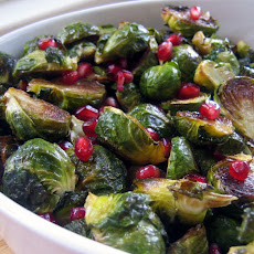 Brussels Sprouts with Pomegranate Seeds