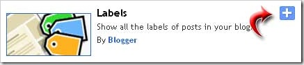 Blogger Releases the new version of the Label Widget