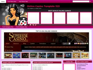 Online Casino Template 525