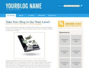 Blue Sensation 1.1 Free Wordpress Theme
