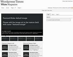 Wordpress Times Magazine Theme (Dark/White)