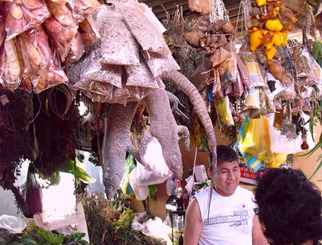 Witches market in Chiclayo.