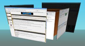 L'effet 3D pour passer façon cube, pour passer d'un bureau à l'autre.