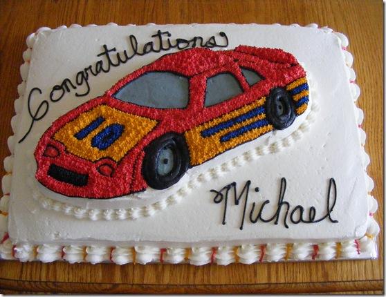 Michael Benham grad cake