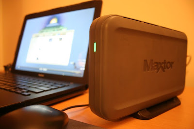 Maxtor external hard drive 300+ GB
