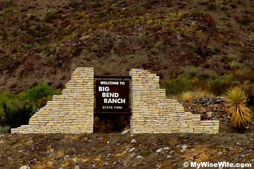 Entering Big Bend Ranch State Park