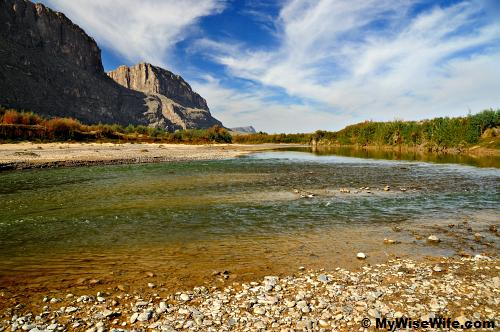 Santa Elena Canyon mouth and Rio Grande