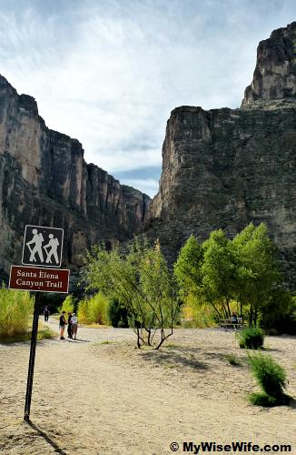Santa Elena Canyon hiking trail after the picnic area