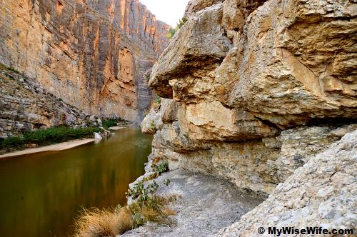 Rio Grande and Santa Elena Canyon from switchbacks