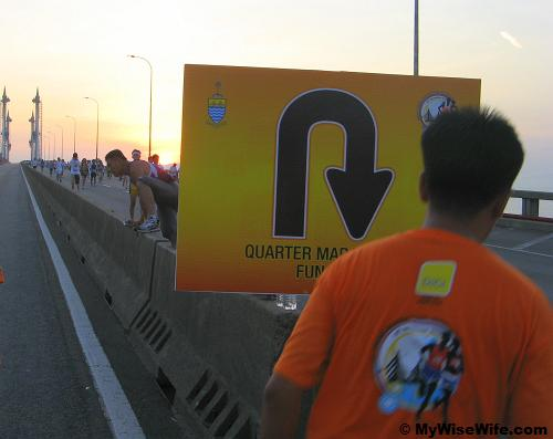 U turn point for Quarter Marathon (Boys/Girls) and Fun Run