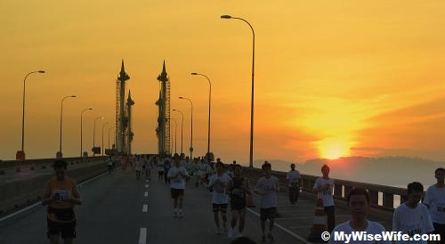 Running like a king on Penang Bridge
