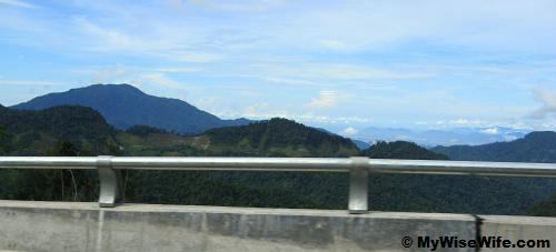 Stretch of mountains - Titiwangsa Range far ahead