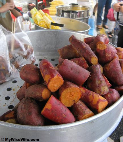 Sweet potato and pearl sweet corn
