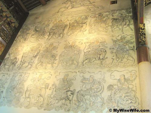 Mural painting - 18 of 36 Celestial Guardians