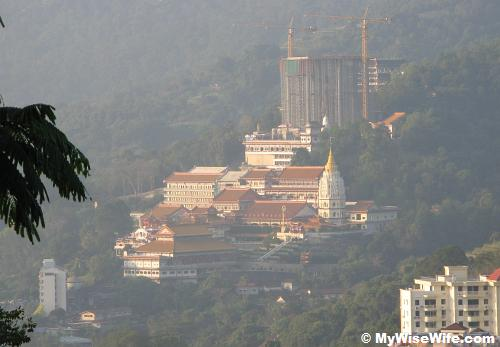 Bird eye view of Kek Lok Si Pagoda