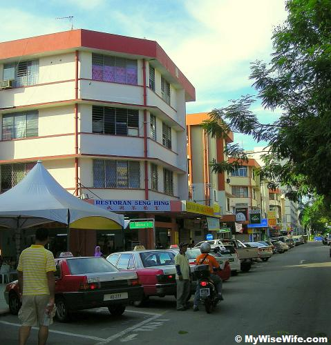 The corner lot of Seng Hing Coffee Shop in KK