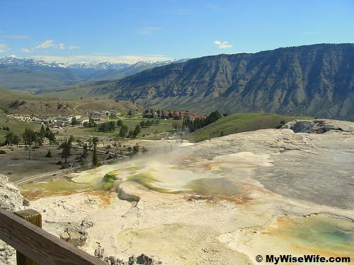 Inspiring view of Yellowstone National Park